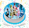 Power Rangers Edible Image Cake Topper Personalized Birthday Sheet Custom Frosting Round Circle