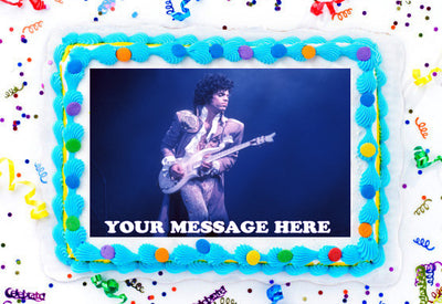 Prince Edible Image Cake Topper Personalized Birthday Sheet Decoration Custom Party Frosting Transfer Fondant