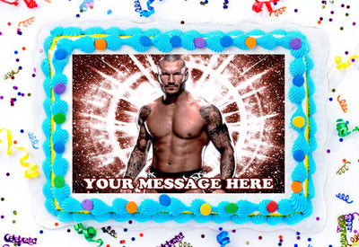 Randy Orton Edible Image Cake Topper Personalized Birthday Sheet Decoration Custom Party Frosting Transfer Fondant