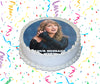 Taylor Swift Edible Image Cake Topper Personalized Birthday Sheet Custom Frosting Round Circle