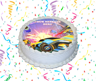 Rocket League Edible Image Cake Topper Personalized Birthday Sheet Custom Frosting Round Circle