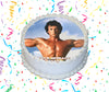 Rocky Balboa Edible Image Cake Topper Personalized Birthday Sheet Custom Frosting Round Circle