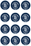 San Diego Padres Edible Cupcake Toppers (12 Images) Cake Image Icing Sugar Sheet Edible Cake Images