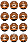 San Francisco Giants Edible Cupcake Toppers (12 Images) Cake Image Icing Sugar Sheet Edible Cake Images