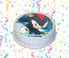 Shadow The Hedgehog Edible Image Cake Topper Personalized Birthday Sheet Custom Frosting Round Circle
