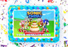 Sonic Dash Edible Image Cake Topper Personalized Birthday Sheet Decoration Custom Party Frosting Transfer Fondant