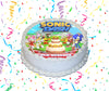 Sonic Dash Edible Image Cake Topper Personalized Birthday Sheet Custom Frosting Round Circle