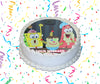 SpongeBob SquarePants Edible Image Cake Topper Personalized Birthday Sheet Custom Frosting Round Circle