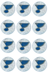 St. Louis Blues Edible Cupcake Toppers (12 Images) Cake Image Icing Sugar Sheet Edible Cake Images