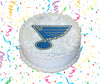St. Louis Blues Edible Image Cake Topper Personalized Birthday Sheet Custom Frosting Round Circle