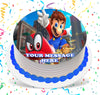 Super Mario Odyssey Edible Image Cake Topper Personalized Birthday Sheet Custom Frosting Round Circle