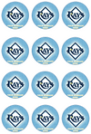 Tampa Bay Rays Edible Cupcake Toppers (12 Images) Cake Image Icing Sugar Sheet Edible Cake Images