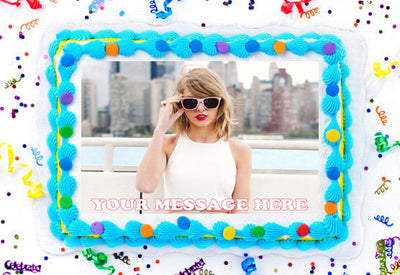 Taylor Swift Edible Image Cake Topper Personalized Birthday Sheet Decoration Custom Party Frosting Transfer Fondant
