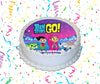Teen Titans Go! Edible Image Cake Topper Personalized Birthday Sheet Custom Frosting Round Circle