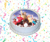 The Big Bang Theory Edible Image Cake Topper Personalized Birthday Sheet Custom Frosting Round Circle