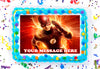 The Flash Edible Image Cake Topper Personalized Birthday Sheet Decoration Custom Party Frosting Transfer Fondant