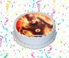 The Flash Edible Image Cake Topper Personalized Birthday Sheet Custom Frosting Round Circle