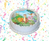The Land Before Time Edible Image Cake Topper Personalized Birthday Sheet Custom Frosting Round Circle