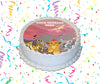The Lion Guard Edible Image Cake Topper Personalized Birthday Sheet Custom Frosting Round Circle