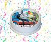Thomas & Friends Edible Image Cake Topper Personalized Birthday Sheet Custom Frosting Round Circle