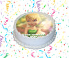 Tinker Bell Edible Image Cake Topper Personalized Birthday Sheet Custom Frosting Round Circle