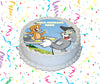 Tom And Jerry Edible Image Cake Topper Personalized Birthday Sheet Custom Frosting Round Circle