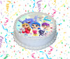 True And The Rainbow Kingdom Edible Image Cake Topper Personalized Birthday Sheet Custom Frosting Round Circle