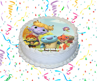 Wallykazam! Edible Image Cake Topper Personalized Birthday Sheet Custom Frosting Round Circle
