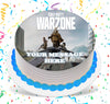 Call Of Duty Warzone Edible Image Cake Topper Personalized Birthday Sheet Custom Frosting Round Circle