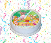 Winnie-The-Pooh Edible Image Cake Topper Personalized Birthday Sheet Custom Frosting Round Circle