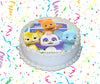 Word Party Edible Image Cake Topper Personalized Birthday Sheet Custom Frosting Round Circle