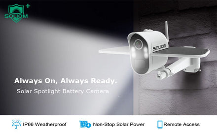 Soliom Giveaway-Win 1 of 2 Soliom S100 Solar Spotlight Security Camera