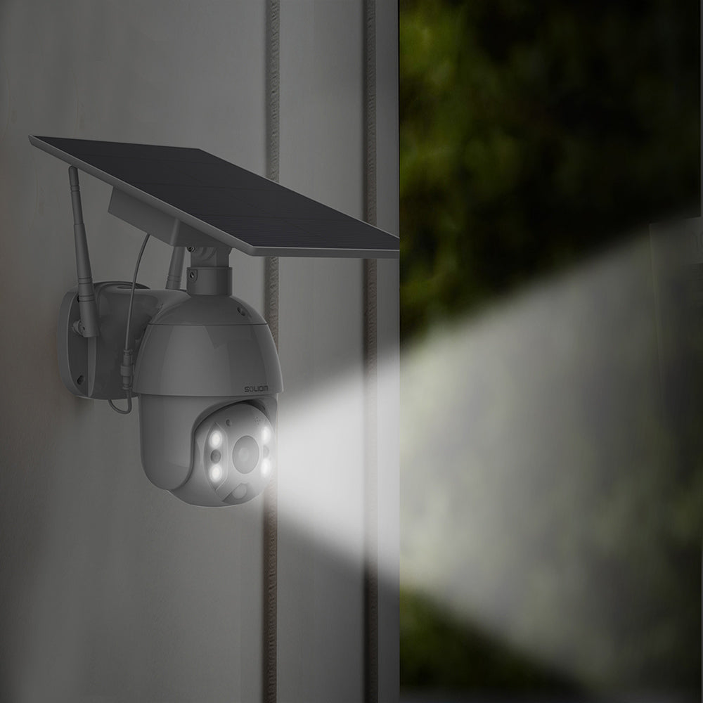 Best Solar Wireless PTZ Security Camera Systems with Spotlight