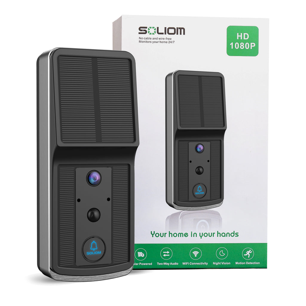 Soliom Solar Power | Wireless Video Doorbell | Smart Door Camera X80