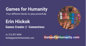 Custom Business Cards - Games for Humanity