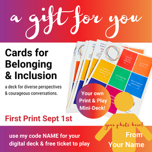 custom image with your photo to share along with the print & play deck and event invitation.