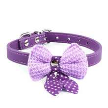 Load image into Gallery viewer, Pups! Bowknot Leather Collar - 5 colours available - Pups Closet