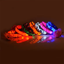 Load image into Gallery viewer, Pups! Camouflage LED Collar - 5 colours available-Pups Closet