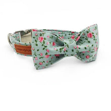 Load image into Gallery viewer, Pups! Floral Bow Collar & Leash Set-Pups Closet