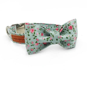 Pups! Floral Bow Collar & Leash Set-Pups Closet