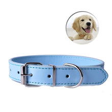 Load image into Gallery viewer, Pups! Leather Collar - 8 colours available-Pups Closet