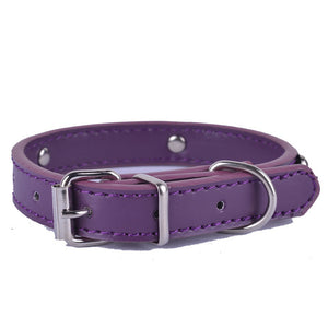 Pups! Leather Collar - 8 colours available-Pups Closet