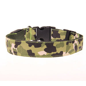 Pups! Camouflage LED Collar - 5 colours available-Pups Closet