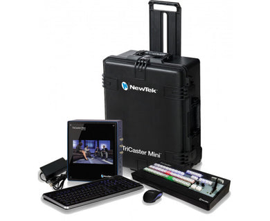 NEWTEK TRICASTER MINI HD-4 ADVANCED SDI BUNDLE WITH CONTROL SURFACE AND TRAVEL CASE