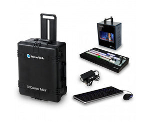 NEWTEK TRICASTER MINI HD-4I ADVANCED BUNDLE WITH CONTROL SURFACE AND TRAVEL CASE