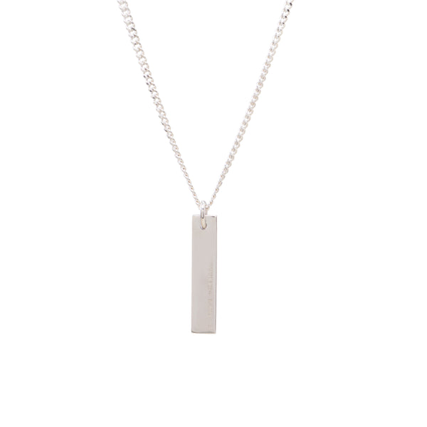 New York Necklace | Matte Sterling Silver