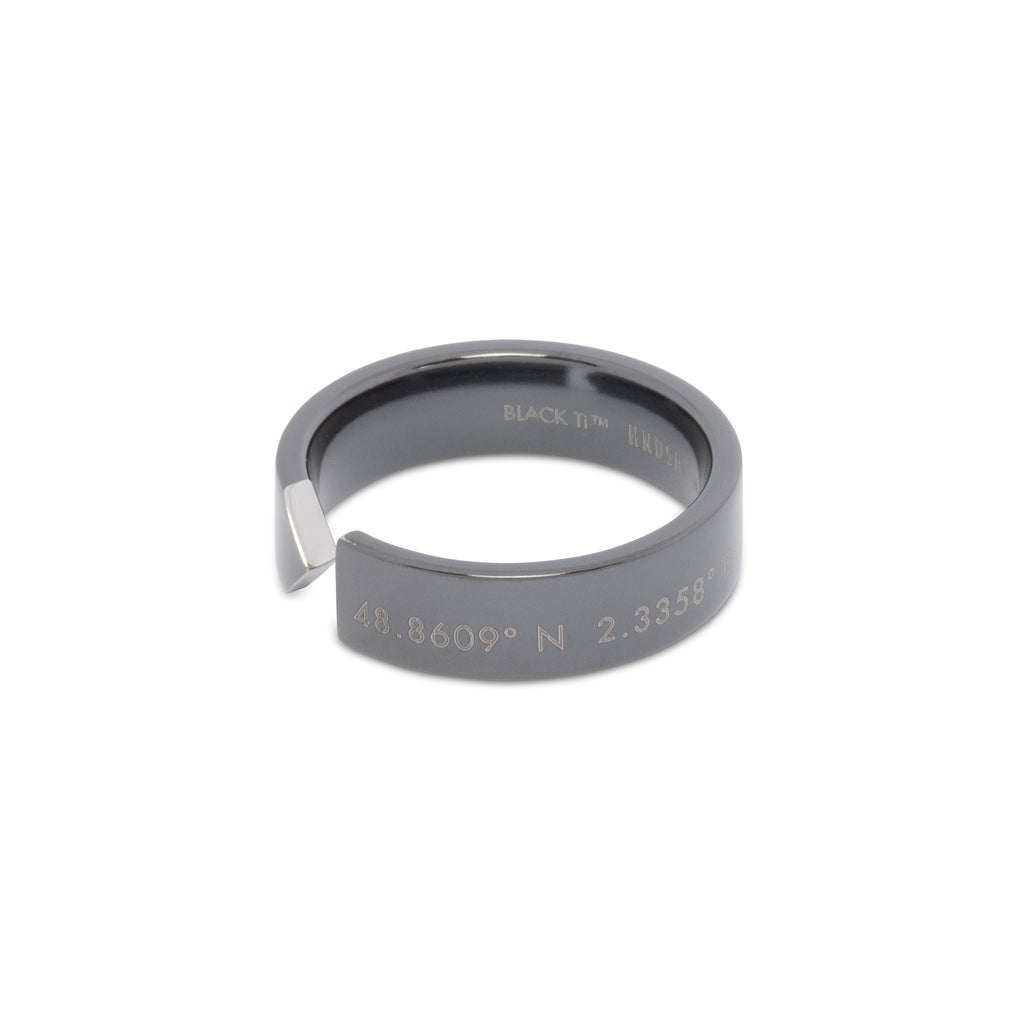 Paris Ring | Polished Black Titanium™