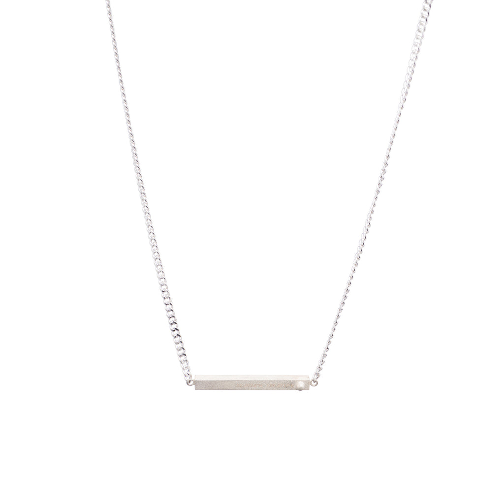 Tokyo Necklace | Matte Sterling Silver
