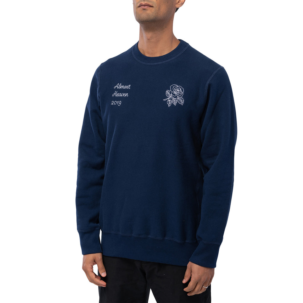 ALMOST HEAVEN CREWNECK SWEATSHIRT | NAVY