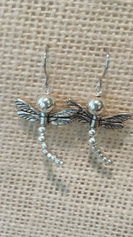 Dips Dragonfly Earrings-Pewter